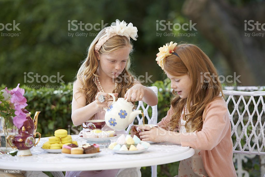 Being fancy with tea time royalty-free stock photo