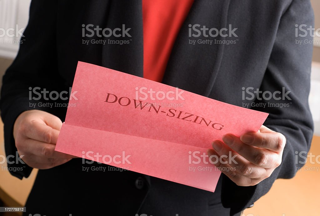 Being Fired, Receiving Downsizing Lay-off, Finishing Job for Unemployment Stress stock photo