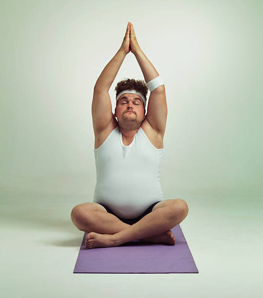 Being fit is easy especially with yoga stock photo