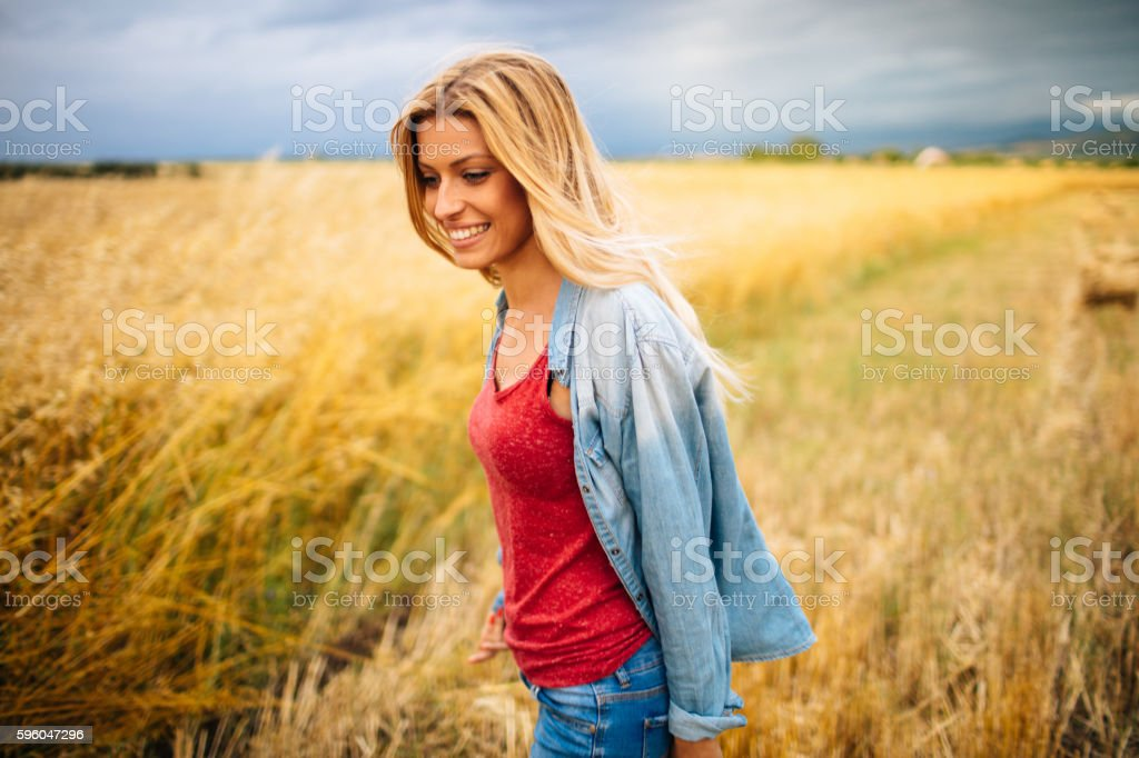 Being happy and free royalty-free stock photo