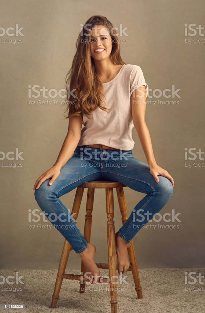 Being happy never goes out of style stock photo