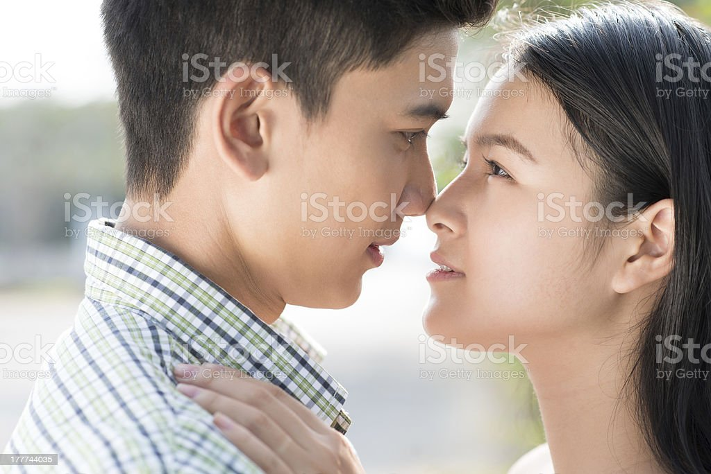 Being in love royalty-free stock photo