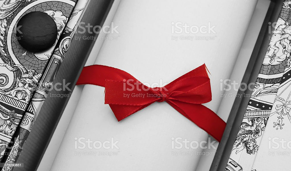 Being in red stock photo