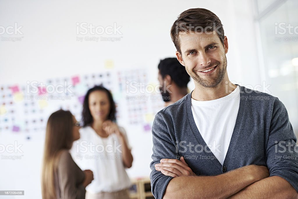 Being part of a creative team is inspiring royalty-free stock photo