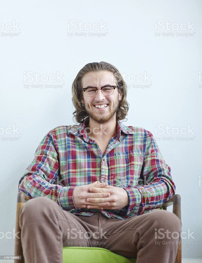 Being playful with plaid stock photo