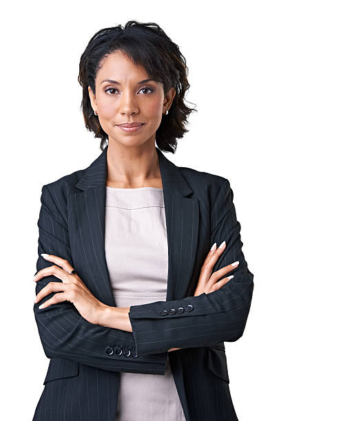 Being positive boosts her work ethic stock photo