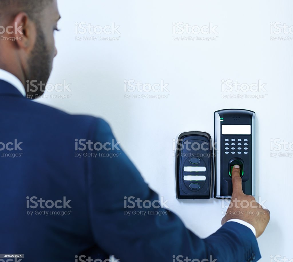 Being security conscious stock photo