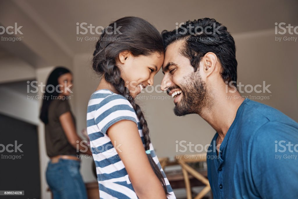 Being your dad is the most precious thing to me stock photo
