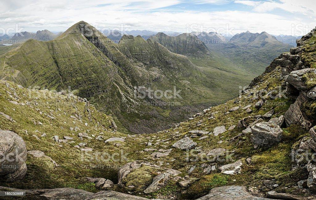 Beinn Alligin and the Torridon Mountains stock photo