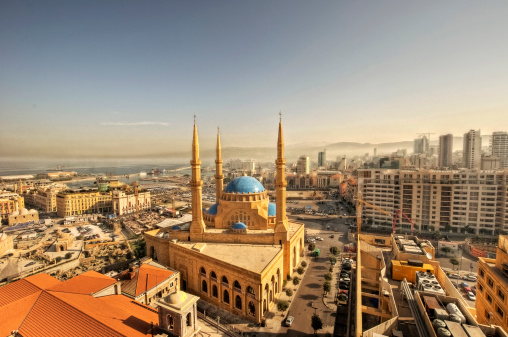 istock Beirut downtown cityscape & Mohammad al amin mosque 461976569