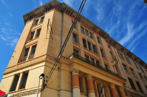 Bejaia / Bgayet / Bougie - Kabylia, Algeria: Ibn Sina (Avicenna) high school - Fatima street - ex-collège supèrieure - place de la Grande Poste, ex-place Clément Martel - photo by M.Torres