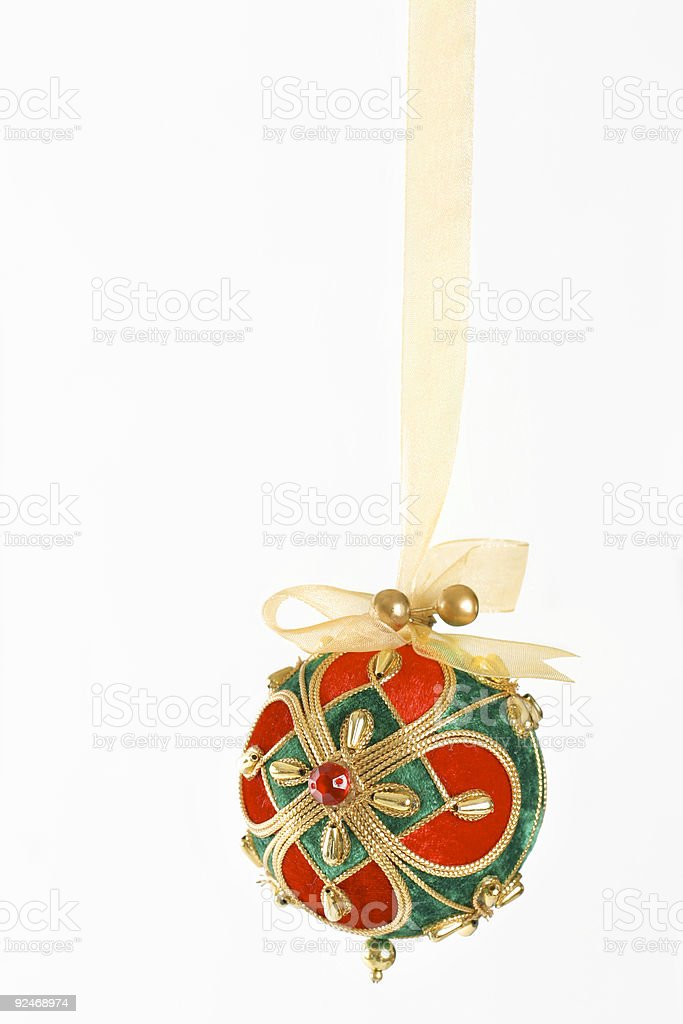 Bejewelled Christmas Bauble royalty-free stock photo