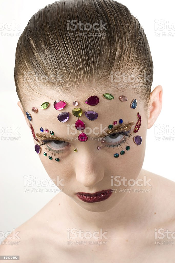 Bejewled Beauty royalty-free stock photo
