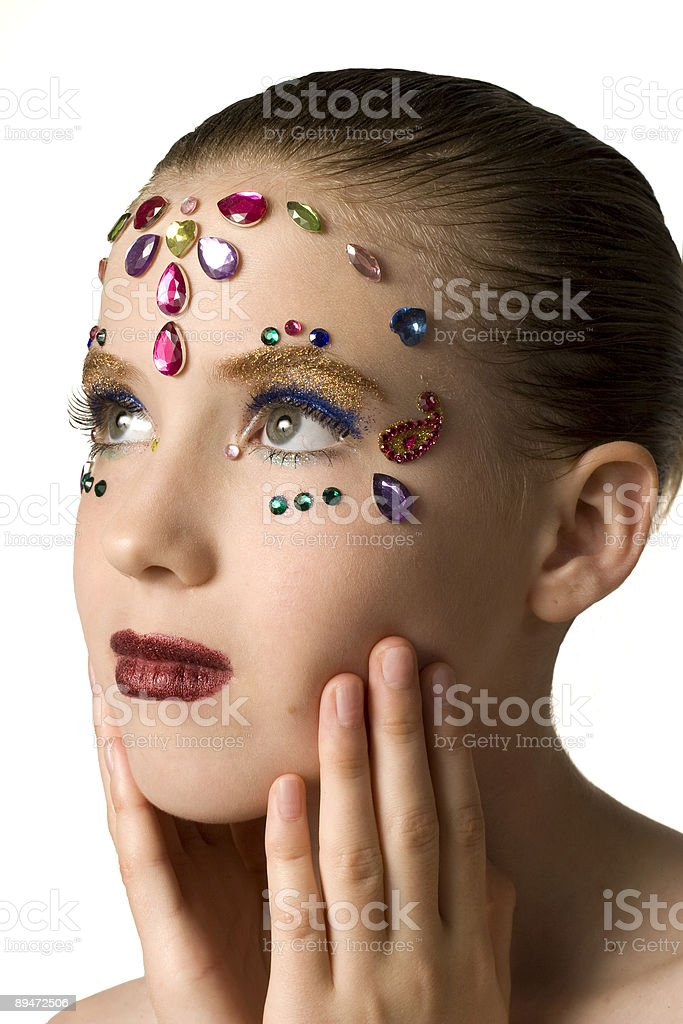 Bejewled Beauty royalty-free stock photo