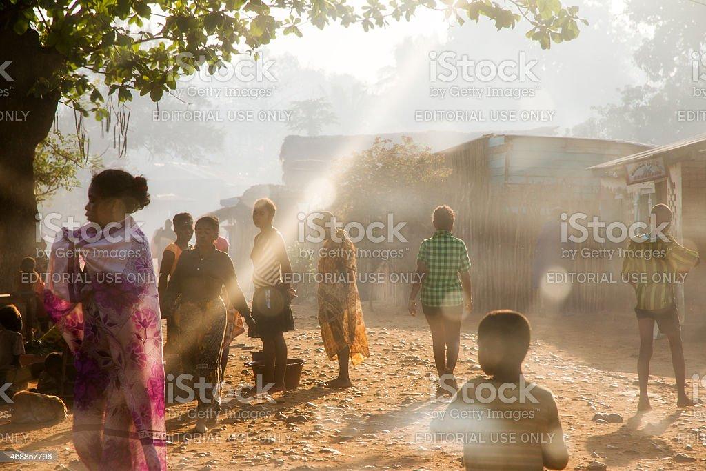 Bekopaka village stock photo