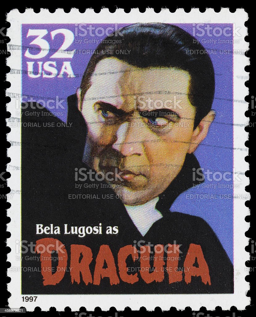 USA Bela Lugosi Dracula postage stamp royalty-free stock photo