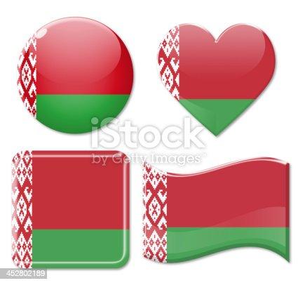 istock Belarus Flags & Icon Set 452802189