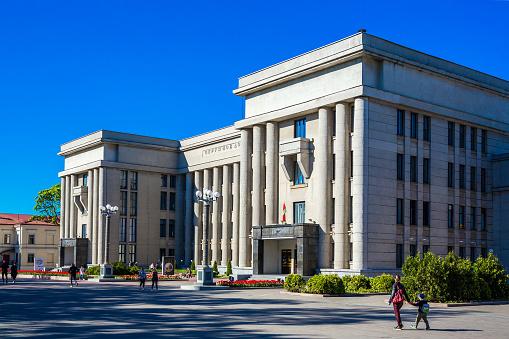 Witrusland Minsk Huis Van Officieren Stockfoto en meer beelden van Architectuur