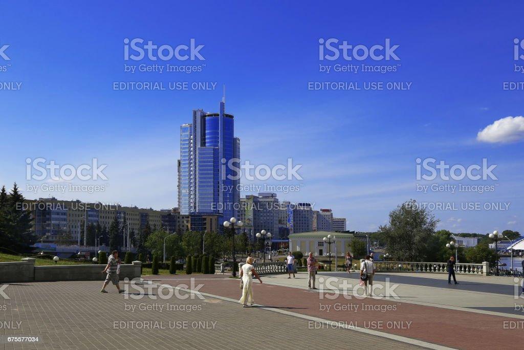 Belarus, Minsk, Pobediteley Avenue photo libre de droits