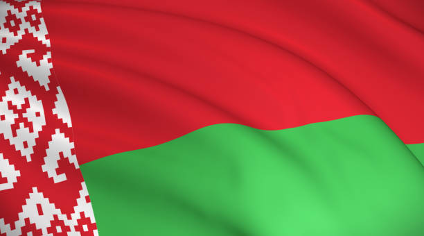 flaga narodowa białorusi (flaga białoruska) - białoruś zdjęcia i obrazy z banku zdjęć