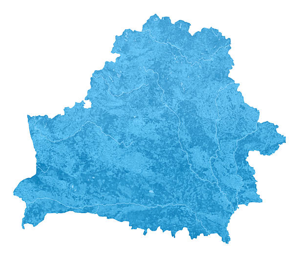Belarus Topographic Map Isolated stock photo