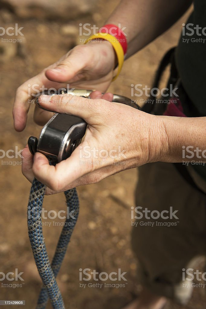 Belay Gear royalty-free stock photo