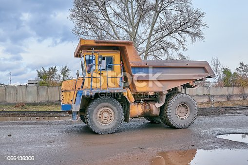 istock BelAZ unloading 1066436306