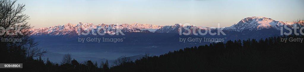 Beldonne montain range royalty-free stock photo