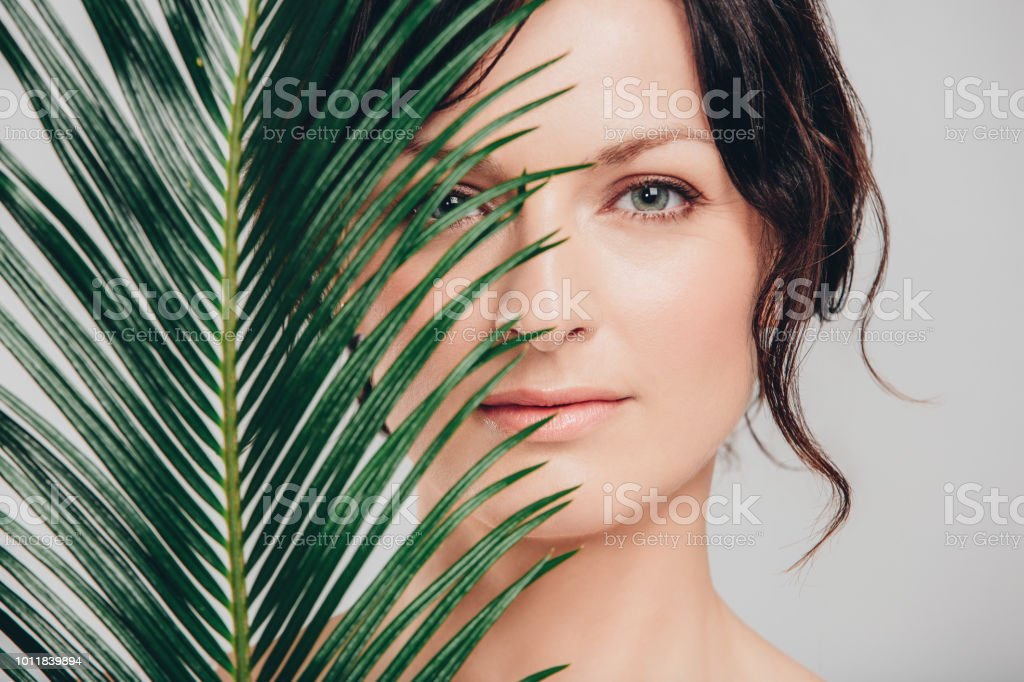 Beleaf in the beauty of you stock photo