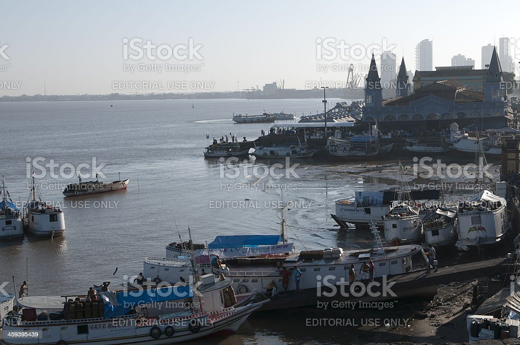 Belem a brazilian amazonian city royalty-free stock photo