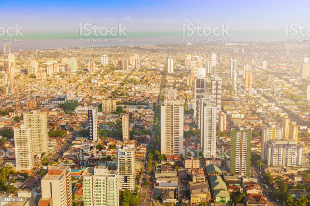 Belem, capital of the State of Para stock photo