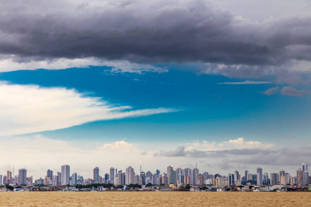 Belem city, capital of the State of Para stock photo