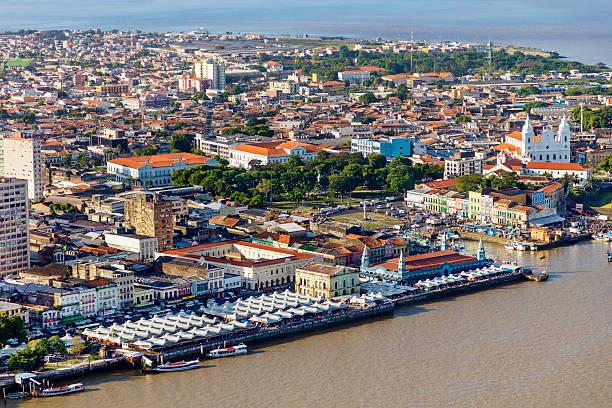 Belem city, in the Amazon stock photo