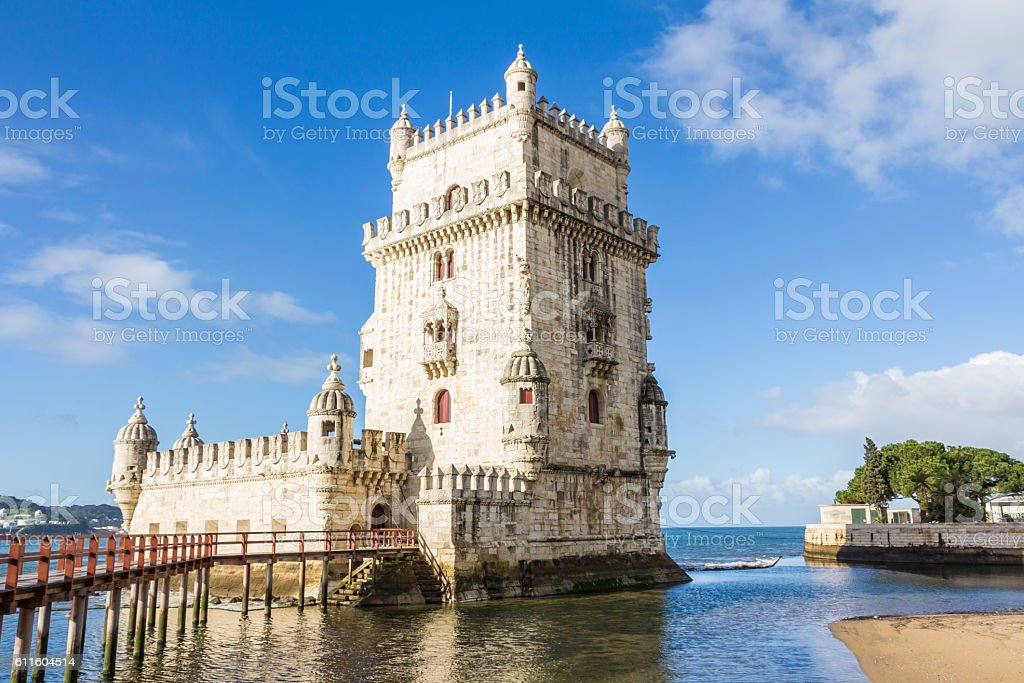 Belem Tower in Lisbon Portugal stock photo