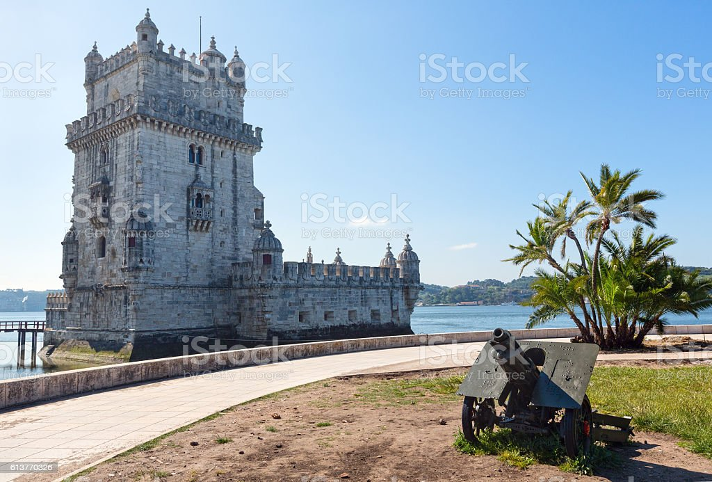 Belem Tower, Lisbon, Portugal. Belem Tower (or the Tower of St Vincent) on bank of Tagus River in Lisbon, Portugal. Built between 1515-1521 by Francisco de Arruda. Architecture Stock Photo