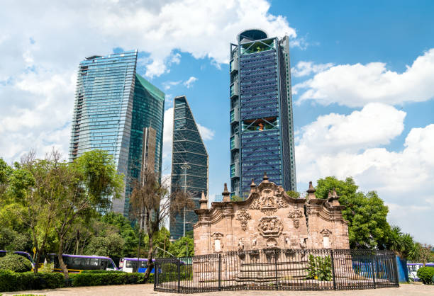 Belen Fountain in Mexico City stock photo