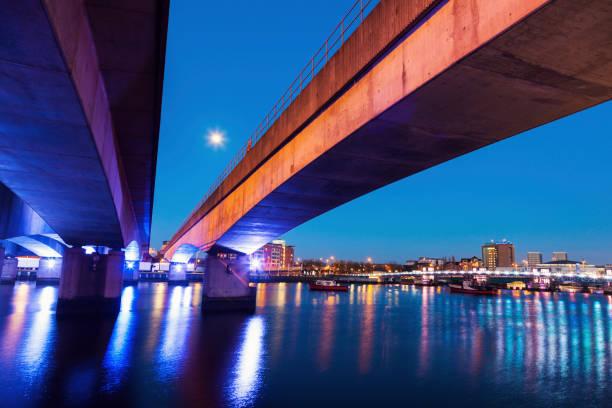 Belfast architecture along River Lagan stock photo