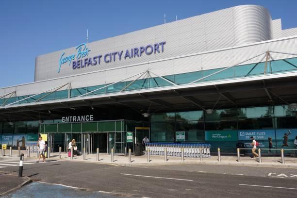 Belfast City Airport stock photo