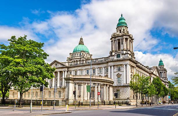 Ayuntamiento de Belfast, Irlanda del Norte, Reino Unido - foto de stock