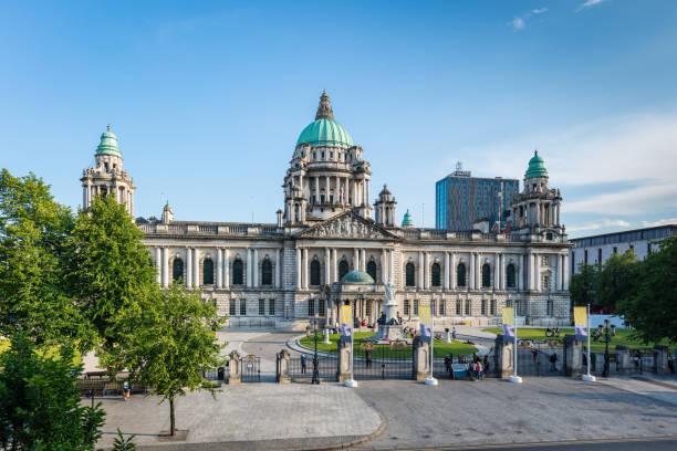 Ayuntamiento de Belfast Irlanda del norte, Reino Unido - foto de stock