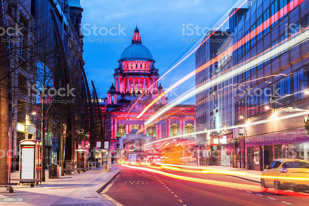 Belfast City Hall stock photo