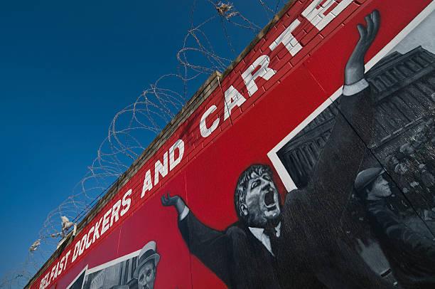 Belfast Dockers and carters strike stock photo