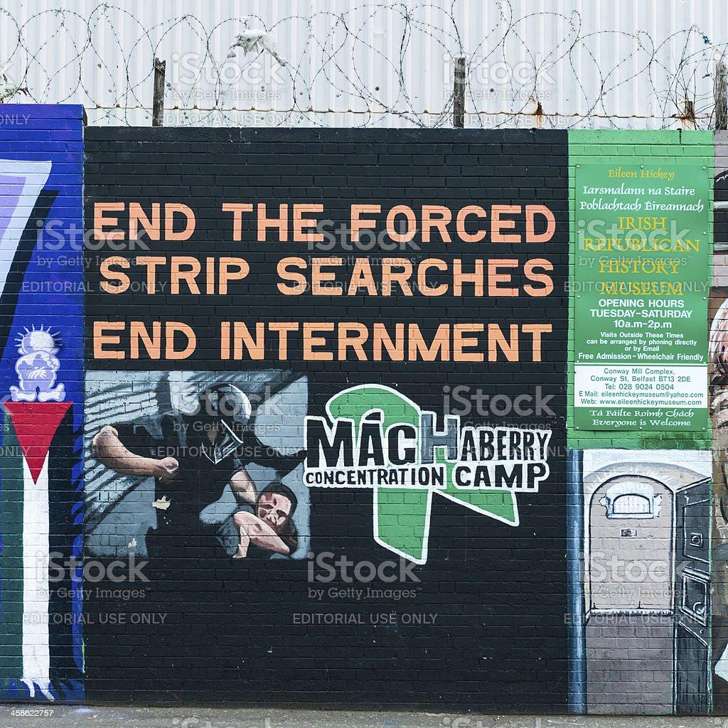 Belfast Murals stock photo