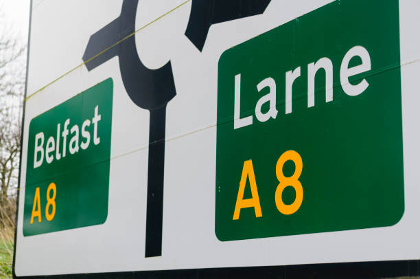 A8 Belfast nach Larne Road, Nordirland – Foto
