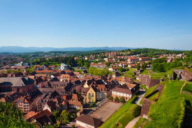 Altstadt von Belfort betrachtet von Vauban Zitadelle – Foto