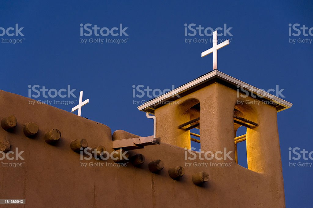 Belfry Glowing at Night royalty-free stock photo