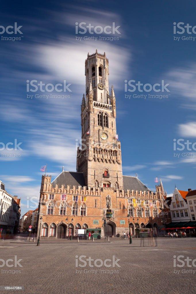 Belfry In Bruges, Belgium stock photo