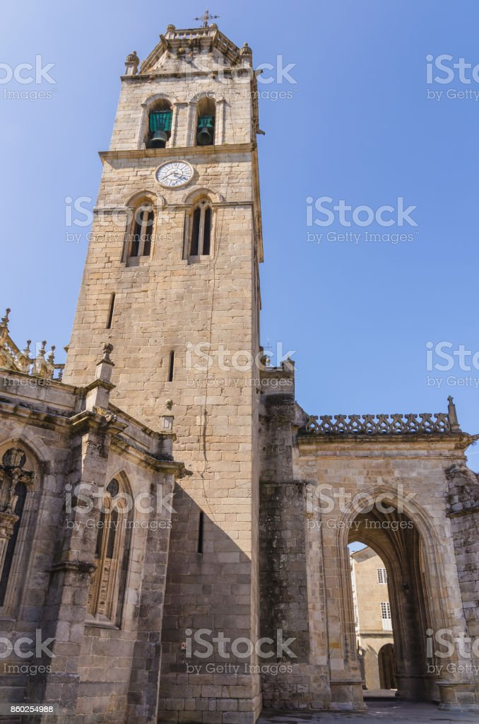 Belfry in the cathedral of Saint Mary Lugo Galicia Spain stock photo
