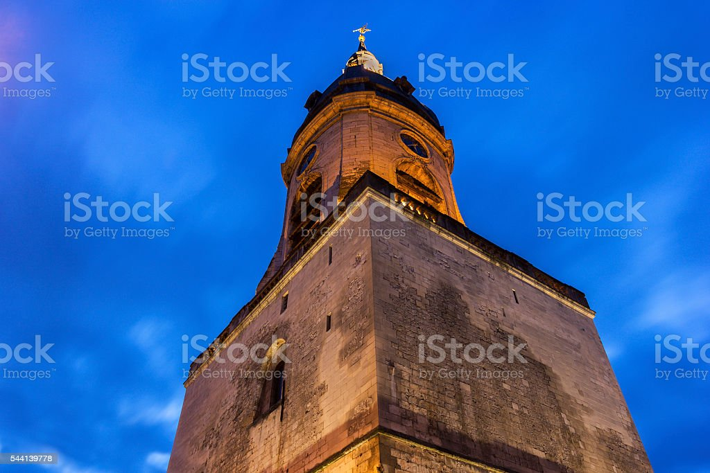 Belfry of Amiens in France stock photo