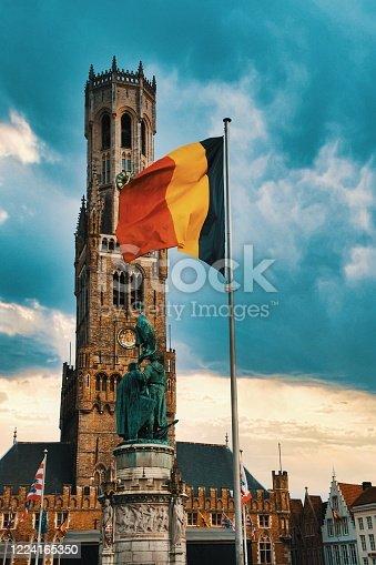 istock Belfry of Bruges and medieval old town - Bruges, Belgium 1224165350